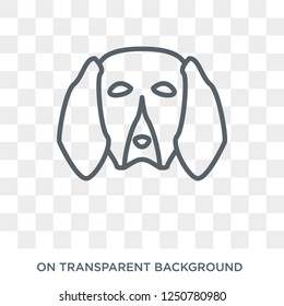 Treeing Walker Coonhound dog icon. Trendy flat vector Treeing Walker Coonhound dog icon on transparent background from dogs collection. High quality filled Treeing Walker Coonhound dog symbol use for