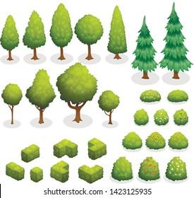 Trees, bushes, flowers, garden, plant