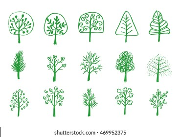 Trees collection, sketch for your design.