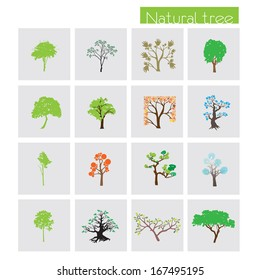 trees icons set