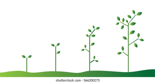 Trees Vector Growing