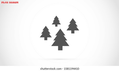 Trees vector icon. Trees for home icon. Trees for planting icon.  Trees for sale  eps flat design.