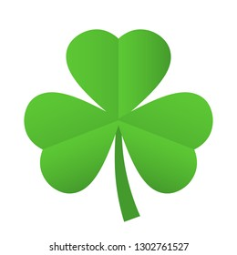 Trefoil shamrock leaf icon illustration isolated on white background