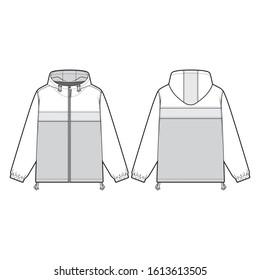 Trek Jacket fashion flats template