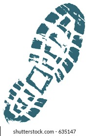 Trekkers boot print. (Space in the middle of the shoe to add your logo.)
