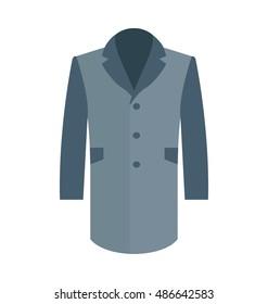 Trench Coat Vector Icon