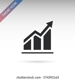 Trend flat vector icon