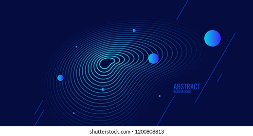 Trendy abstract art background with minimalistic style. Vector poster with elements for design