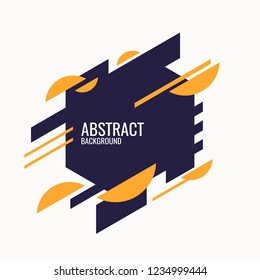 Trendy abstract background. Composition of geometric shapes. Vector template