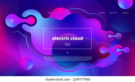 Trendy abstract background . Minimal geometric shapes composition. Colorful pattern. Editable mask. Template for your design works. Vector illustration.