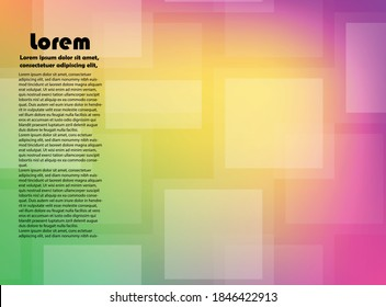 trendy abstract background with multi color