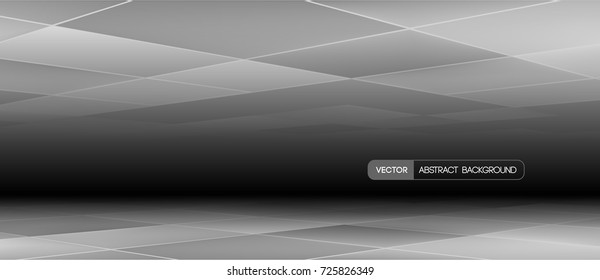Trendy abstract banner for black Friday promotion for example. Vector illustration. Used opacity mask and transparency layers of background and mesh objects