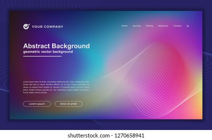 Trendy abstract colorful background for your landing page design. Minimal background for for website designs.