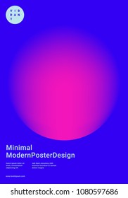 Trendy abstract design template with bright vibrant gradient shapes. Applicable for covers, placards, posters, flyers, presentations and banners. Vector illustration. Eps10