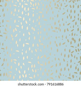 Trendy abstract gold and pastel pattern in terrazzo style.  Wallpaper,  textile, party  invitation, wrapping, birthday, anniversary, etc. Vector