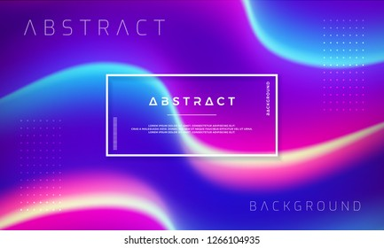 Trendy abstract liquid background. Graded liquid background for banners, web, placards, landing page, cover, poster, advertisements, and others