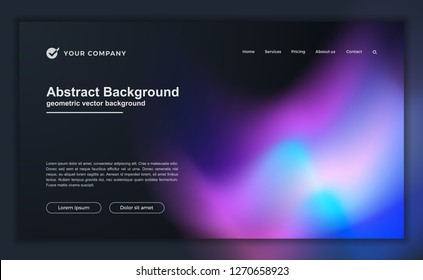 Trendy abstract liquid background for your landing page design. Minimal background for for website designs.