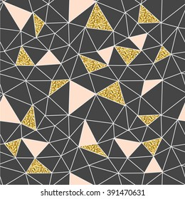 Trendy abstract seamless pattern. triangle structure