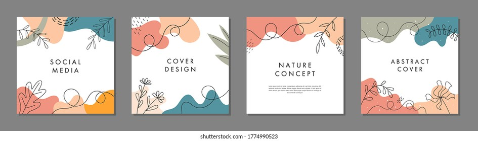 Trendy abstract square template with colorful concept. Able to use for social media posts, mobile apps, banners design, web or internet ads.