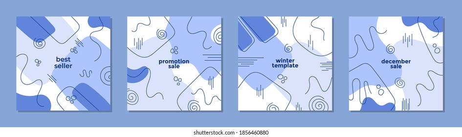 Trendy abstract square template with winter concept. Able to use for social media posts, mobile apps, banners design, web or internet ads.