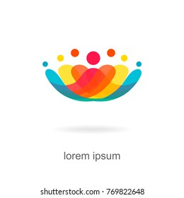 trendy abstract, vibrant and colorful icon, element logo