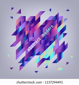Trendy background template with vibrant blue purple gradient bold color abstract geometric triangle polygonal shapes. Vector modern poster, ppt presentation layout, minimal style backdrop illustration
