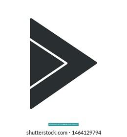 Trendy bullet arrow, arrow head icon vector illustration logo template for many purpose