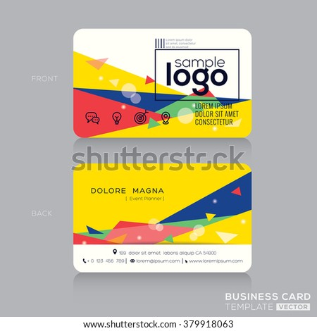 Trendy business card design template post stock vector royalty free trendy business card design template with post modernism background accmission Image collections