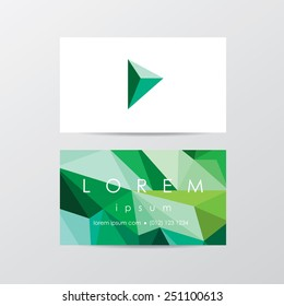 Trendy business card mockup templates company stock vector royalty trendy business card mockup templates for company visual identity in modern low polygon style triangular flashek Choice Image