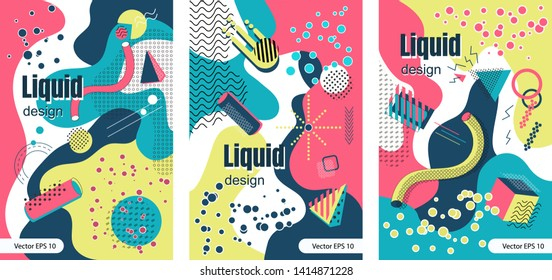 Trendy colorful collection in MEMPHIS styles 80-90ss, perfect suit for greeting cards, stickers, baners, posters, web, social media, email, print etc. Vector EPS 10