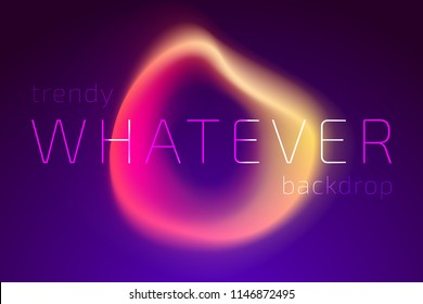 Trendy Colorful Fluid Gradient Shape Background. Futuristic Design Backdrop for Banner, Poster, Cover, Flyer, Presentation, Advertising, Intitational Card, Website and Mobile Usage