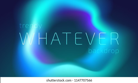 Trendy Colorful Fluid Gradient Shape Isolated on Background. Futuristic Design Backdrop for Banner, Poster, Cover, Flyer, Presentation, Advertising, Intitational Card, Website and Mobile Usage
