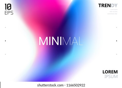 Trendy Colorful Fluid Gradient Shape Background with Place fo Text. Backdrop for Banner, Poster, Cover, Flyer, Presentation, Advertising, Intitational Card, Website and Mobile Usage
