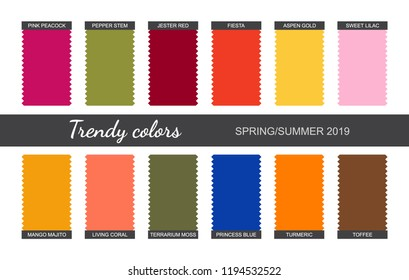 3a6b3a14949 Spring Summer 2019. Fabric pieces. Vector image. Eps