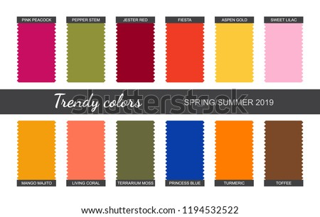 Trendy Colors Palette Spring Summer 2019 Fabric Stock