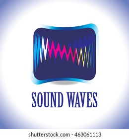 A trendy cool sound wave business logo.