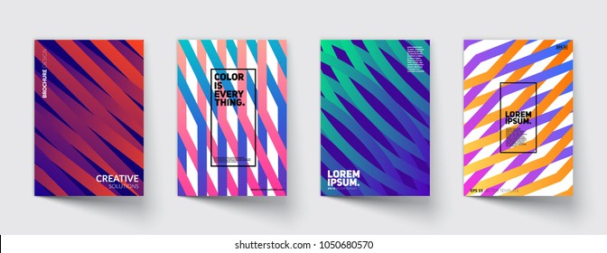 Trendy covers design. Dynamic shapes with colorful gradients. Eps10 vector.