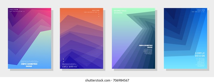Trendy covers design. Simple overlap in colorful background. Eps10