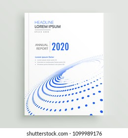 trendy creative business brochure flyer or book cover design with blue dots