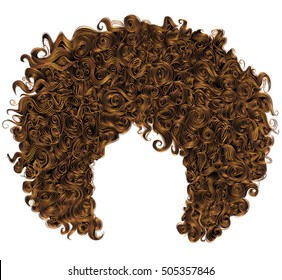 trendy curly  red  hair  . realistic  3d . spherical hairstyle  redhead. fashion beauty style .