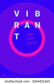 Trendy design template with bright color vibrant gradient shapes. Applicable for covers, placards, posters, flyers, presentations and banners. Vector illustration. Eps10