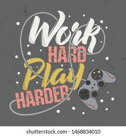 vectores imagenes y arte vectorial de stock sobre gaming quotes
