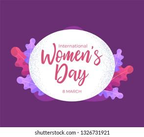 Trendy design women day greeting background design.