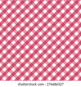 Trendy diagonal vichy pattern - checkered seamless background