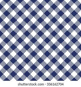 Trendy diagonal vichy pattern - checkered seamless background