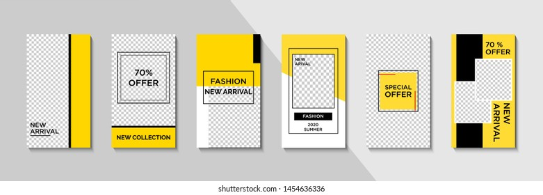 Trendy editable square template for social networks posts, vector illustration. Design backgrounds for social media.