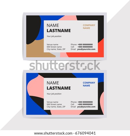 Trendy Elegant Business Card Templates Modern Stock Vector Royalty