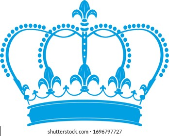 Trendy fashion T-shirt print for textile crown draw design pattern