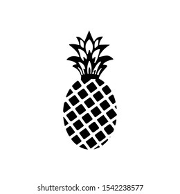 Trendy flat pineapple fruit icon design