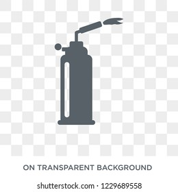 Trendy flat vector blowtorch icon on transparent background from Construction collection. High quality filled blowtorch symbol use for web and mobile